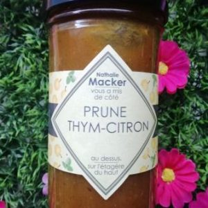 Confiture Prune Thym-Citron